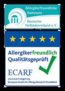 Allergikerfreundlicher Betrieb Logo und Siegel