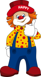 Clown Happy Club Kunterbunt
