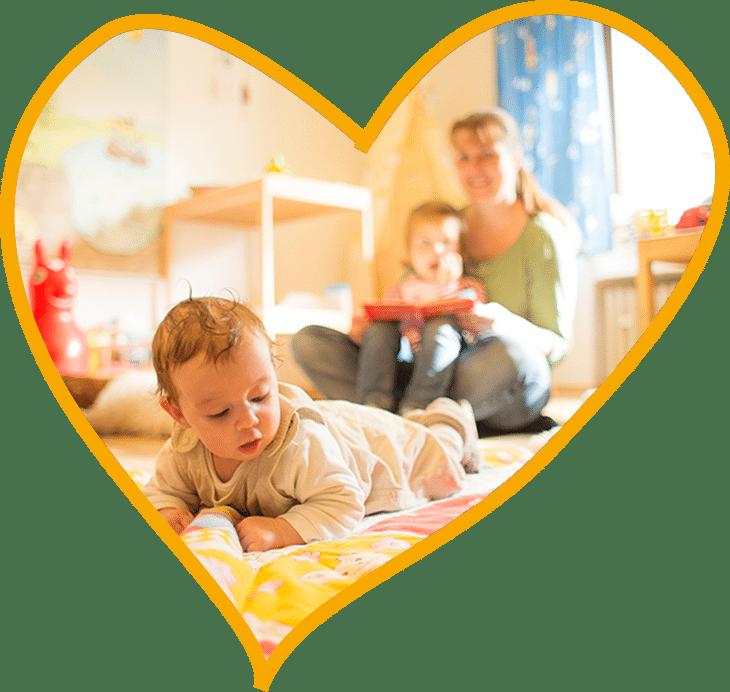 Herz Baby Kinderbetreuung Club Kunterbunt