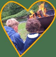 Lagerfeuer für Kinder auf Monikas Ferienhof