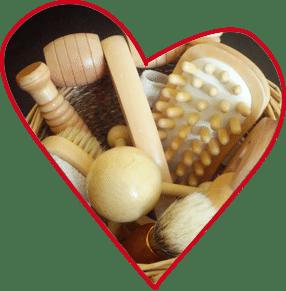 Massagebürsten Wellness auf Monikas Ferienhof