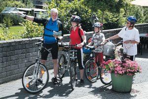 Fahrradfahren und Radausflüge mit der ganzen Familie